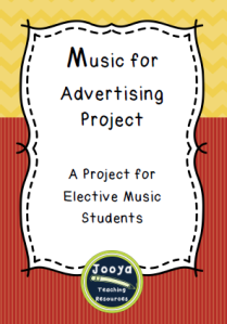 A composition task for Elective Music students where they create and record an ad for a real or imaginary product.