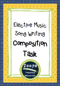 Elective Music Song Writing Task with chord progressions and lyrics.