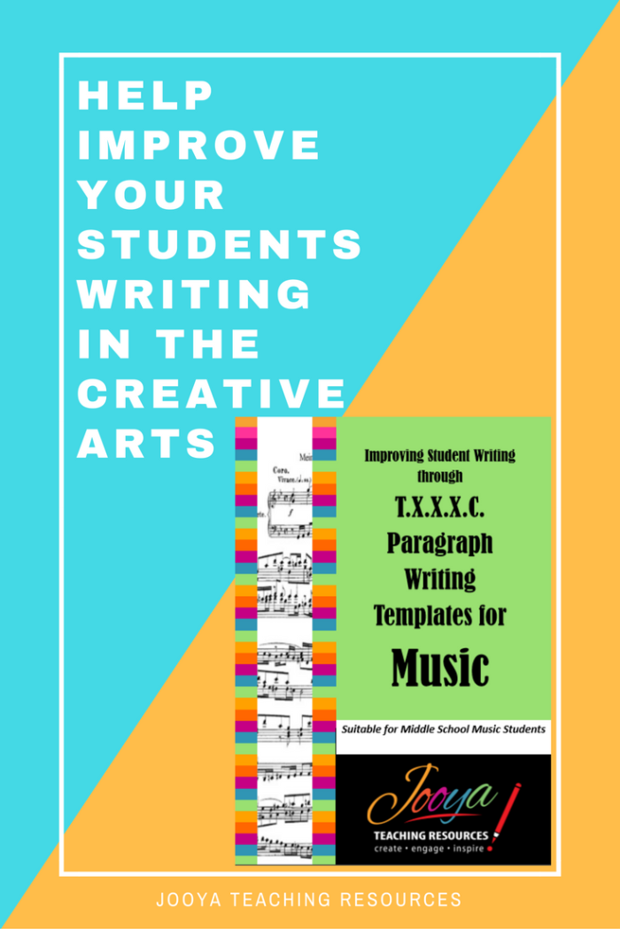 Inspire your students to write critically about any piece of music using these T.X.X.X.C. Paragraph planning templates from Jooya Teaching Resources. Includes all the Concepts of Music. Use over and over, with any genre, suitable for Middle school and older students.