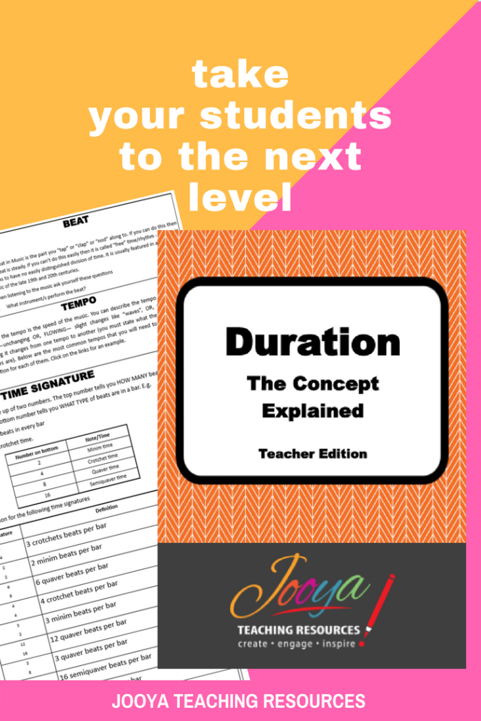 HSC Music 1 Aural Exam Resources by Jooya Teaching Resources. These printable resources explain the concept of Duration. It includes two versions – one for the teacher with music links, and the other for students to complete. Includes definitions, explanations, samples and powerful strategies for students to use in the HSC Music 1 Aural Exam.