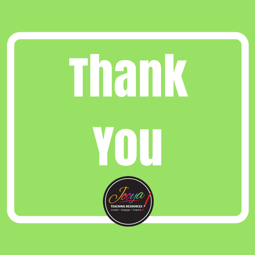 Blog post from Jooya Teaching Resources – two little words Thank You.